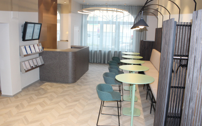 """Sanierungs- und Renovierungsarbeiten in der Winterpause – Lobby und Küche im Hotel """"Haus der Standesbeamten"""" komplett neu!"""