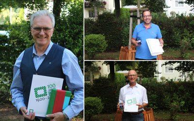 Frank Müsken, Bodo Kroll und Rainer Dodt mit Ehrennadel ausgezeichnet